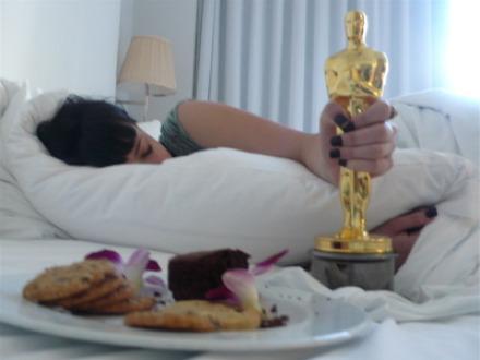 Diablo Cody Sleeping with Oscar