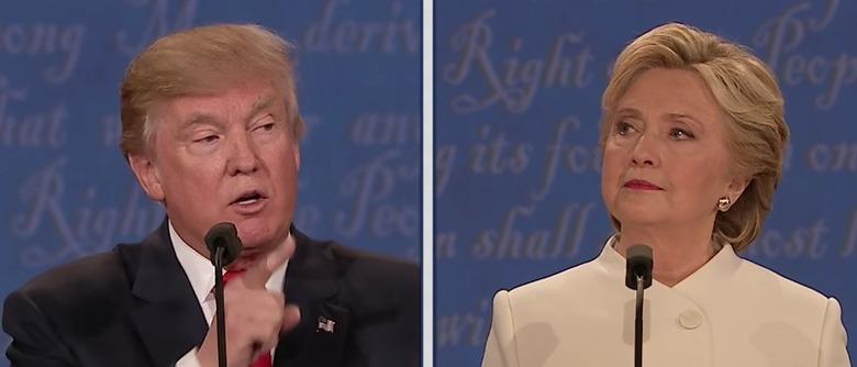 Donald Trump Hillary Clinton Presidential Debate Election 2016