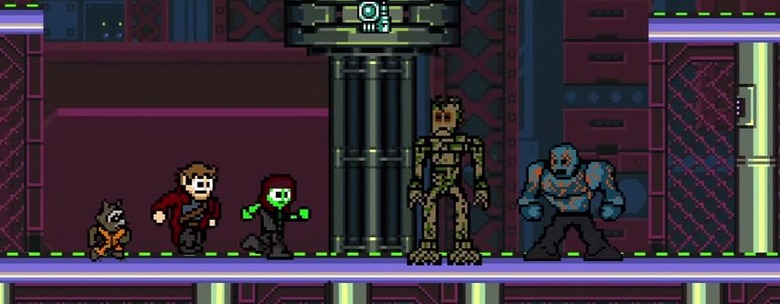 8-Bit Guardians Of The Galaxy Animated Short Film