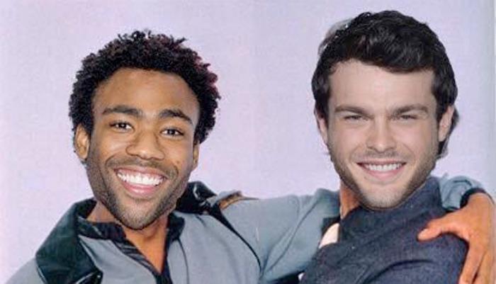 Donald Glover and Alden Ehrenreich Photoshopped as Lando and Han