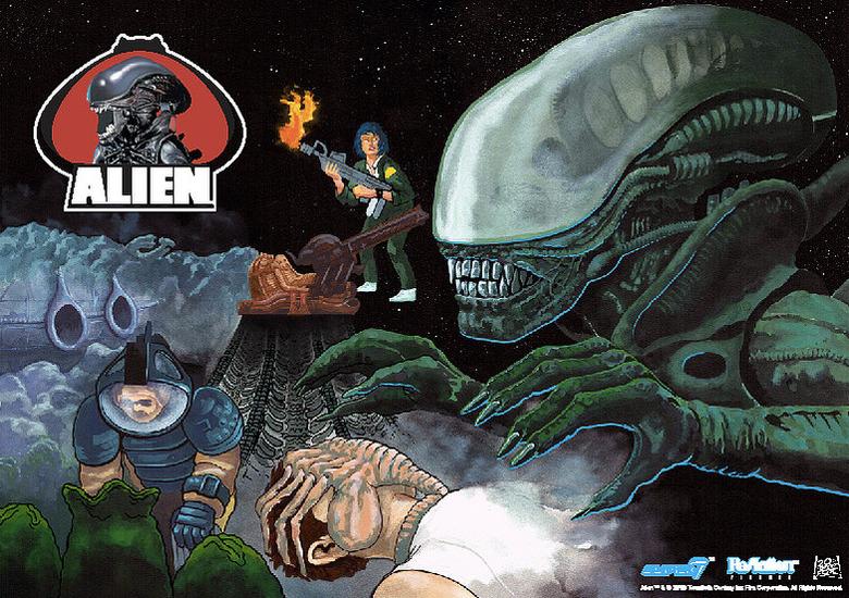 Alien Day ReAction Figures