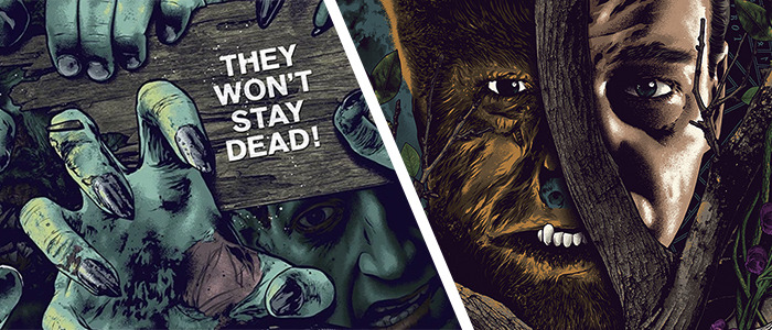 Anthony Petrie - The Wolf Man and Night of the Living Dead Posters