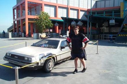Peter Sciretta at Back to the Future: The Ride
