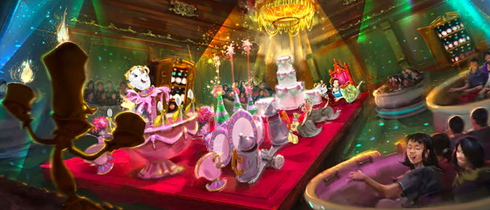 Beauty and the Beast ride concept art