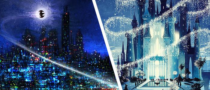 Ben Harman Disney Castle Prints and Mark Chilcott Batman Prints
