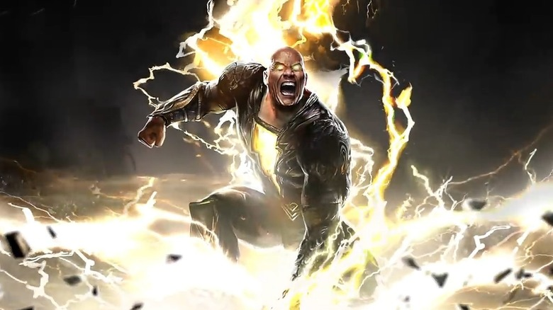 Black Adam angry lightning