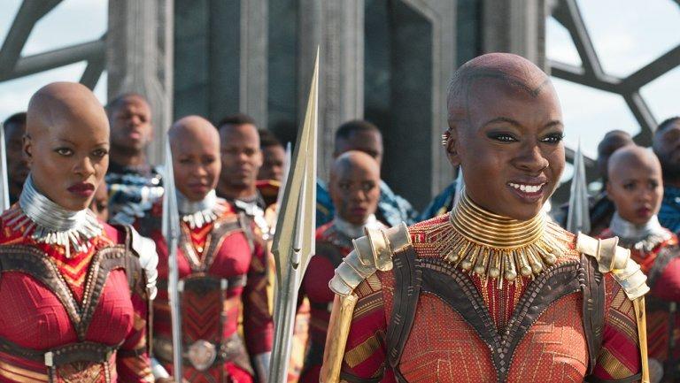 black women of black panther