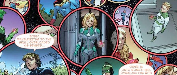 Brie Larson Captain Marvel Comic Cameo