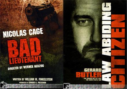 Bat Lieutenant and Law Abiding Citizen movie posters