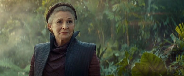 Carrie Fisher in Star Wars: The Rise of Skywalker