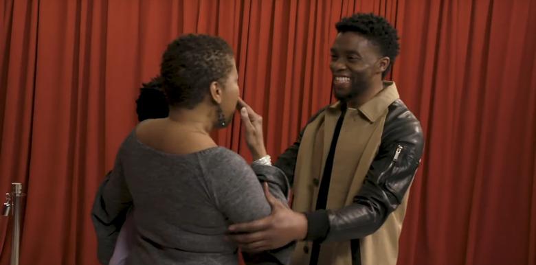 Chadwick Boseman surprises Black Panther fans