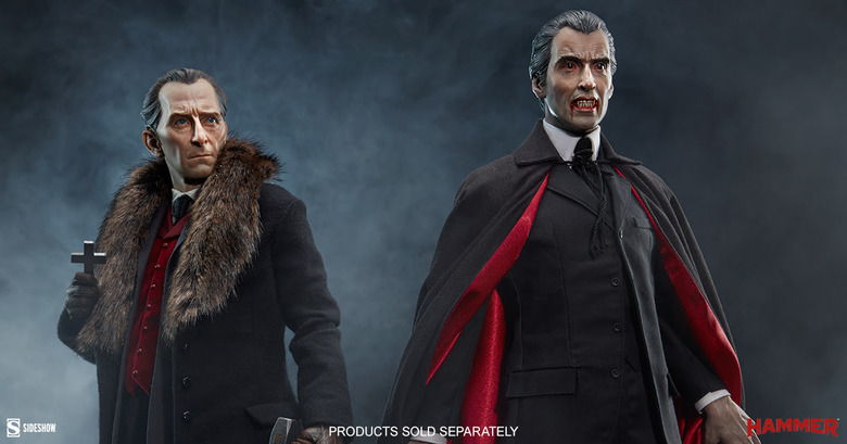 christopher lee and peter cushing sideshow statues