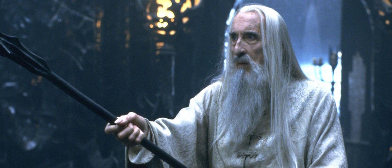Christopher Lee in Lord of the Rings
