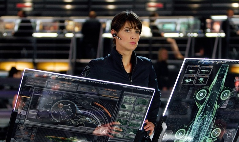 Cobie Smulders as Maria Hill in The Avengers (header)