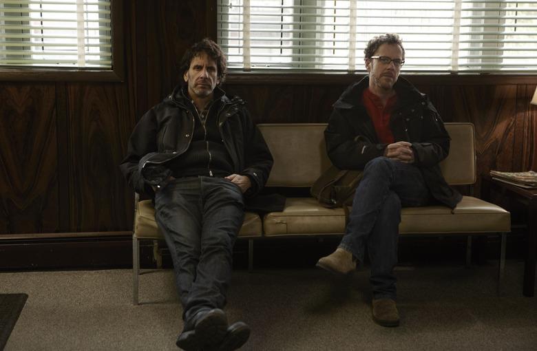 Joel and Ethan Coen on Inside Llewyn Davis set