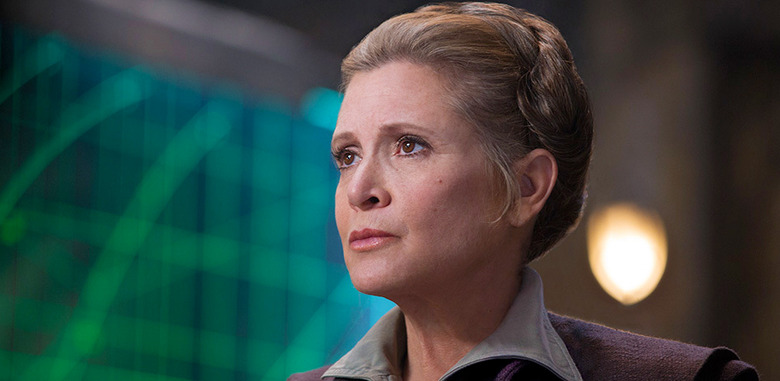 carrie fisher in episode 9