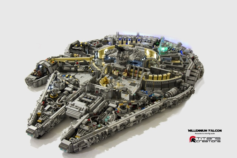 lego Millennium Falcon Fan Build 1