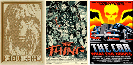 Cool Stuff: Alamo's The Thing, Planet of the Apes, The Car Movie Posters