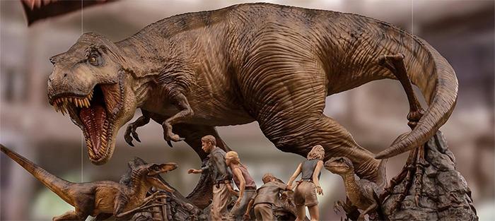 Jurassic Park Final Scene Statue