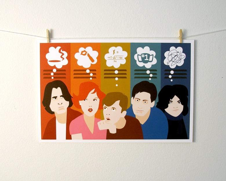 Michele Rosenthal's The Breakfast Club Art Print