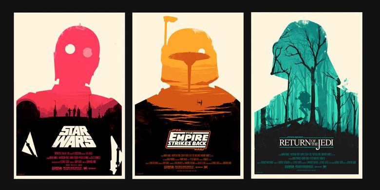 Olly Moss Star Wars trilogy print set
