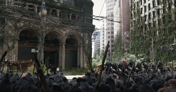 Dawn of the Planet of the Apes Set