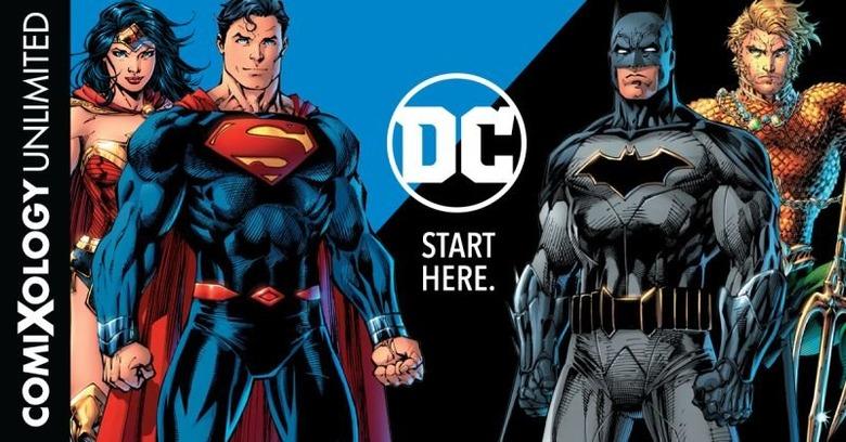 dc comics joins comixology unlimited