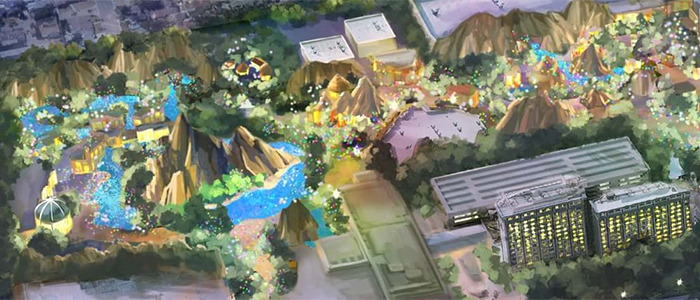 Disneyland Immersive Theme Park Expansion - Map
