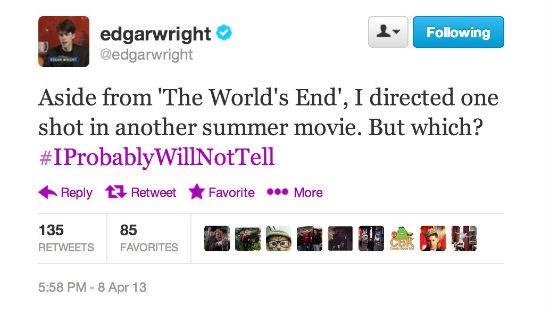 Edgar Wright Tweet Shot