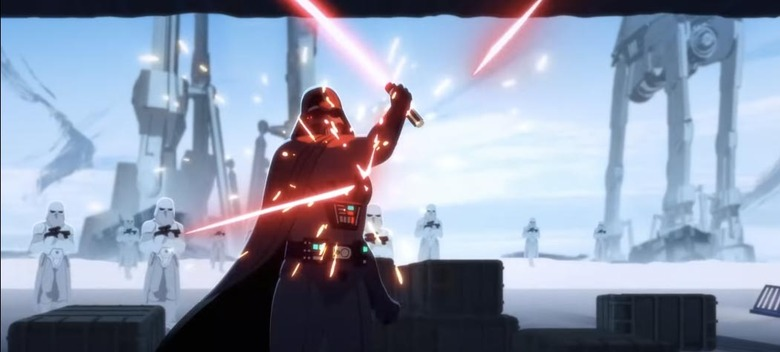 Empire Strikes Back Animated Hoth Attack