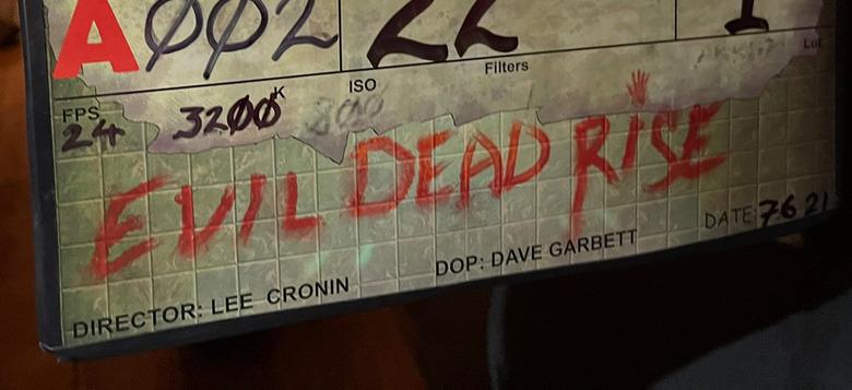 evil dead rise filming