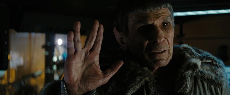 Leonard Nemoy as Old Spock in JJ Abrams' Star Trek