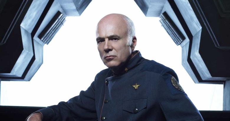 Michael Hogan as Saul Tigh in Battlestar Galactica