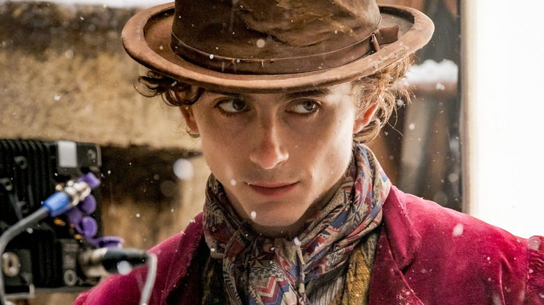 First Look At Timothée Chalamet As Willy Wonka Or Possibly Gonzo The Great