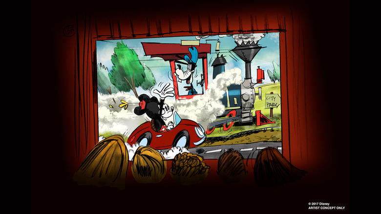 mickey mouse theme park ride