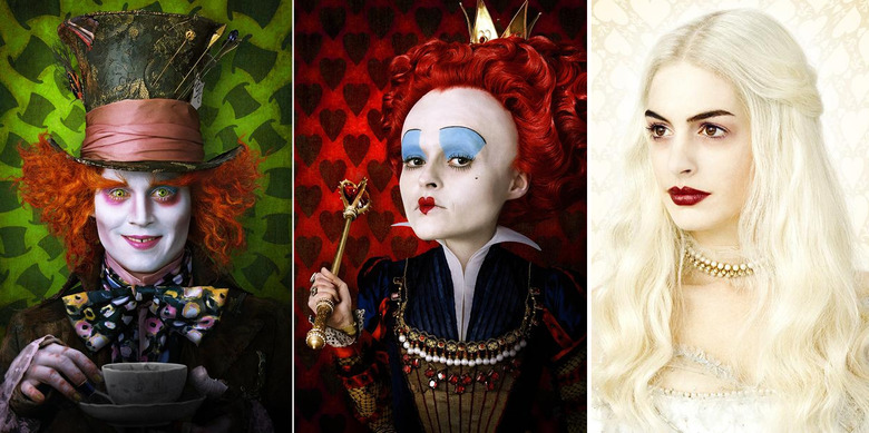 Alive in Wonderland Character photos, Johnny Depp as Mad Hatter, Anne Hathaway as The White Queen