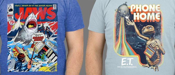 ET and Jaws T-Shirts