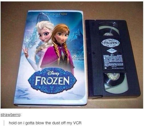 Frozen VHS