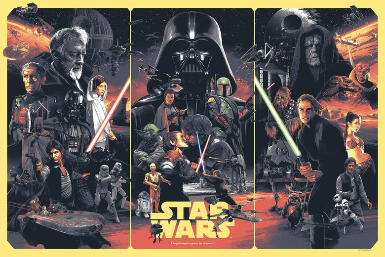 Gabz star wars poster print Regular