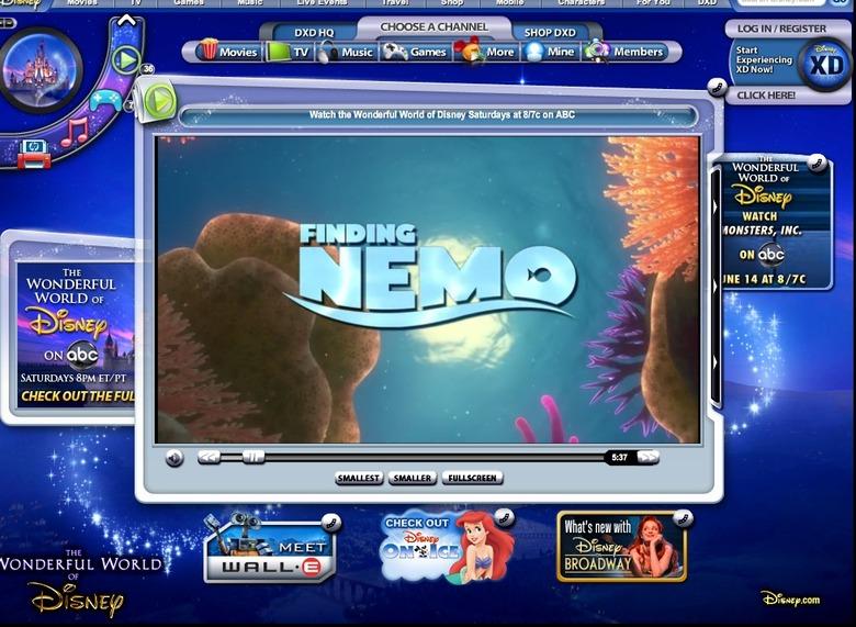 Finding Nemo free on Disney.com