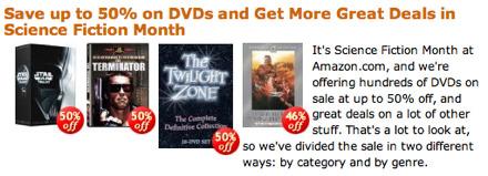 Amazon Sci-Fi DVDs