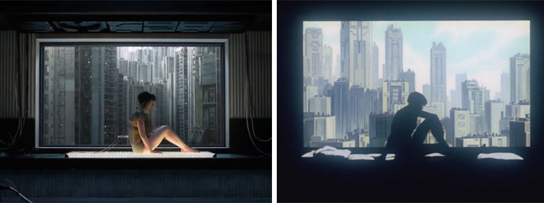 Ghost in the Shell Trailer Comparison