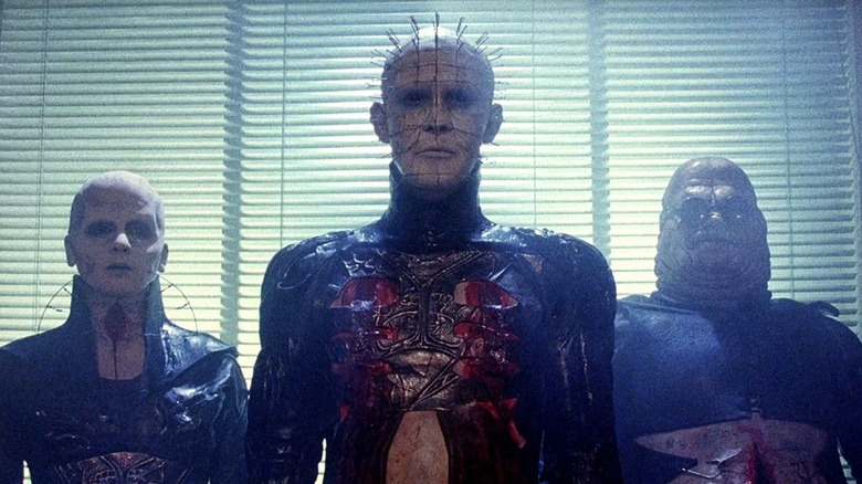 Pinhead and the Cenobites in Hellraiser