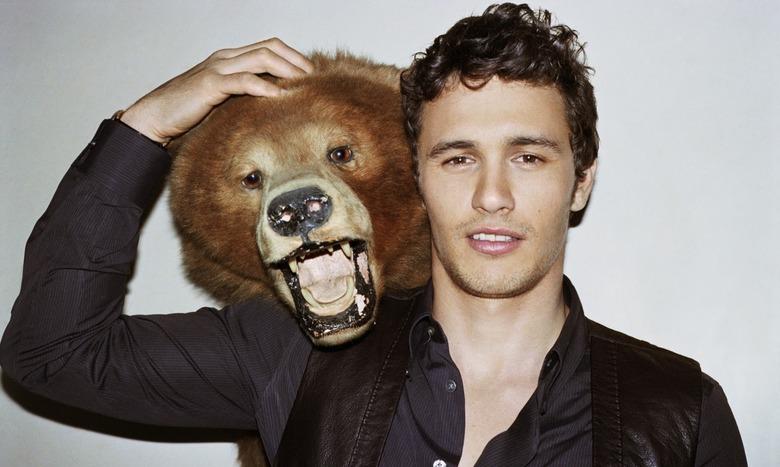 James Franco with a bear