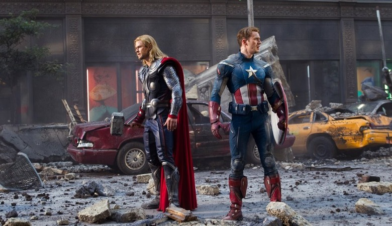 The Avengers - Thor and Captain America (header)