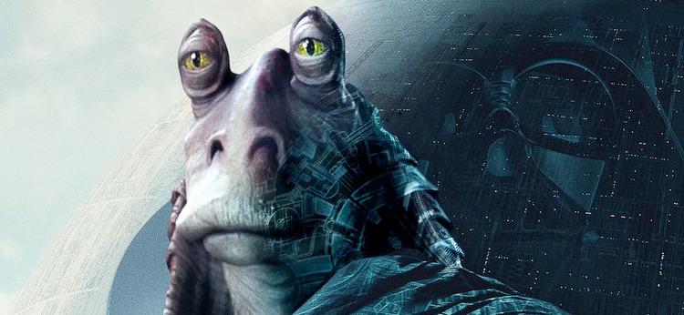 Jar Jar Binks Rogue One Poster