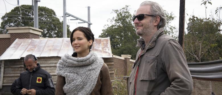 Francis Lawrence and Jennifer Lawrence