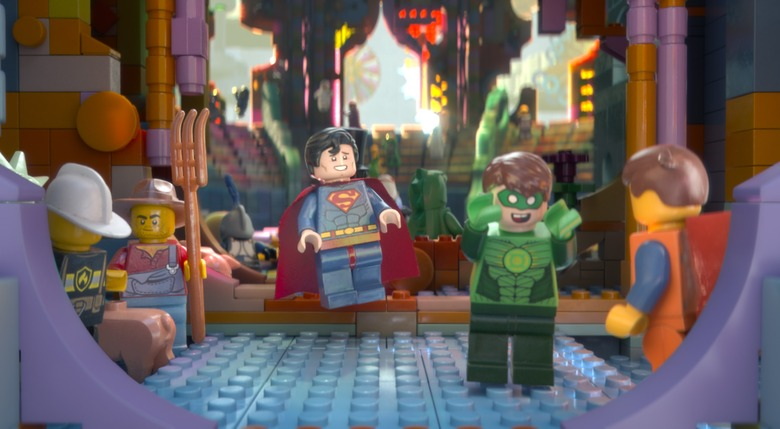 Superman and Green Lantern in Lego Movie