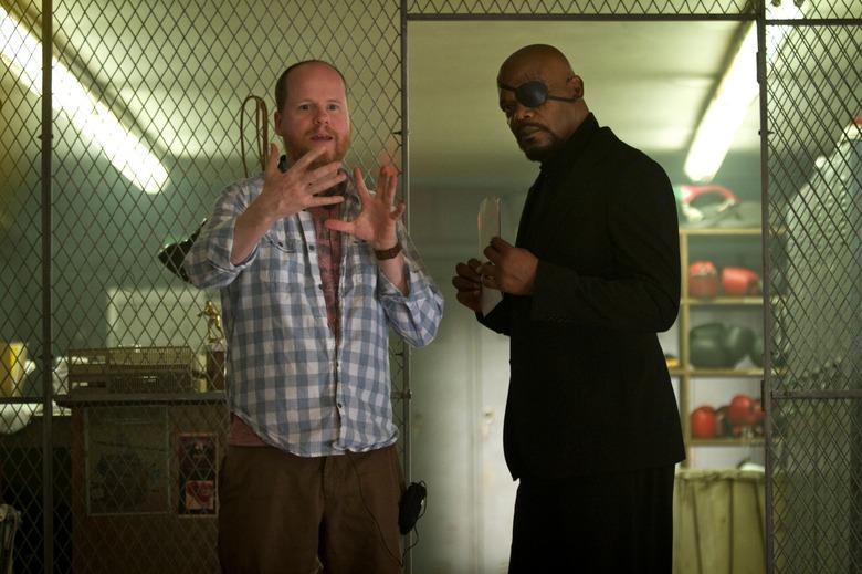 Avengers Joss Whedon and Samuel L Jackson