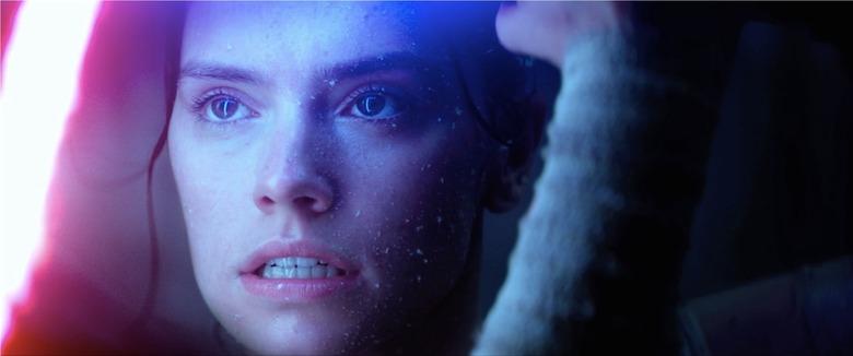rey closeup lightsaber battle force awakens